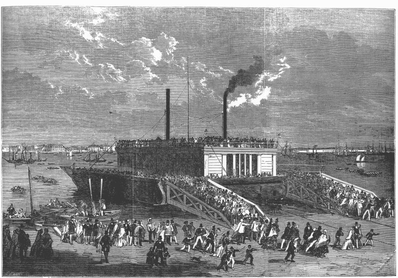 Excursionists on the Floating-Bridge at Portsmouth