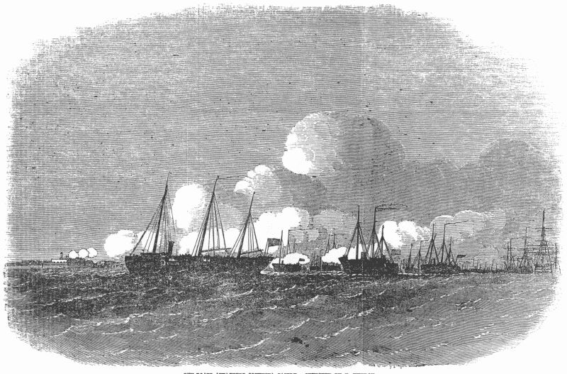 Gun-boats attacking Southsea Castle